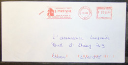 Belgium - Advertising Meter Franking Cover EMA 1992 Thimister Clermont Insurances J Pirenne Palace - 1980-99