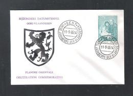 GENT -   INTLE JAARBEURS DER VLAANDEREN   11 - 9 - 65   - OMSLAG (D 036) - Cartas Commemorativas