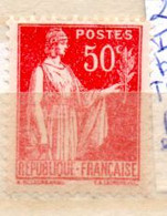 FRANCE N° 283 50C ROUGE TYPE PAIX IMPRESSION BROUILLEE TYPE III POINTS BLANCS EN ARRIERE PLAN NEUF SANS CHARNIERE - Curiosités: 1931-40 Neufs