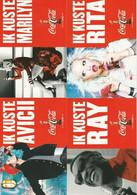 5 Coca-cola Postkaarten Postcards Carte Postale Marilyn Monroe Avicii Rita Ora Ray Charles - Werbepostkarten