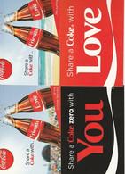 4 Coca-cola Postkaarten Postcards Carte Postale - Werbepostkarten