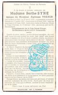 DP Victime Civile Guerre 40-45 ? Berthe Syne 24ans ° Montleban Gouvy 1916 † Vaux Cherain 1941 X Alphonse Therer - Andachtsbilder