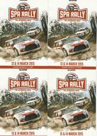 4 Spa Rally  Postkaarten Postcards Carte Postale - Werbepostkarten