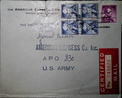 F 19 Lettre US Apo 230 - Briefe U. Dokumente