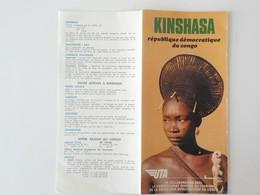 1960 Congo Belge Zaïre Compagnie Aérienne UTA Kinshasa République Démocratique Du Congo Dépliant Touristique - Belgisch-Congo - Varia