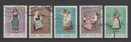 (S2157) FINLAND, 1973 (Regional Costumes. Second Issue). Complete Set. Mi ## 733-737. Used - Oblitérés
