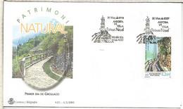 ANDORRA SPD FDC PATRIMONI NATURAL 2001 CAMI REC DE SOLA - Cartas