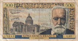500 Francs Victor Hugo Du 6-2-1958 - 500 F 1954-1958 ''Victor Hugo''