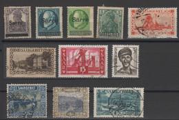 SARRE - SAAR - Lotto - Accumulo - Vrac - 11 Francobolli - Usati - Used - Collections, Lots & Series