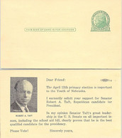 USA - STATIONERY FOR VOTE SENATOR ROBERT A.TAFT   /1 - Sin Clasificación
