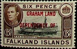 Falkland Islands, Dependencies 1944 6d SG A6 * MH KGVI (002724) - Usados