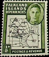 Falkland Islands, Dependencies 1946 ½d SG G1 ** MNH KGVI (002751) - Usados