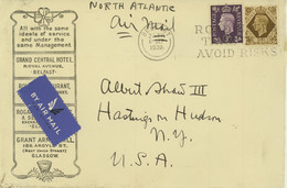 North Ireland Airmail Cover To USA (477) - Covers & Documents