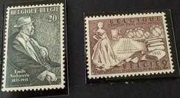 1955 -  Eeuwfeest Van De Geboorte Van Emile Verhaeren En 2de Internationale Textieltentoonstelling   - Postfris/Mint - Nuevos
