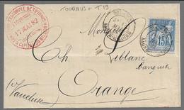 TOURNUS  : 1882 : Cachet à Date  Type 19 Sur N° 90   :  ( Saône Et Loire ) : - 1877-1920: Periodo Semi Moderno