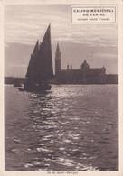 Casino Municipale Di Venezia Viaggiata 1938 Per Nicosia Enna - Werbepostkarten