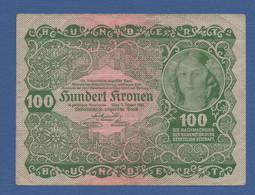 AUSTRIA - P.77 – 100 KRONEN 1922 - CIRCOLATA - Austria