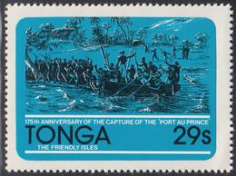 Tonga 1981 MH Sc #497 29s Capture Of The Port Au Prince Ship 175th Anniversary - Tonga (1970-...)