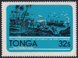 Tonga 1981 MH Sc #498 32s Capture Of The Port Au Prince Ship 175th Anniversary - Tonga (1970-...)