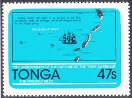 Tonga 1981 MH Sc #499 47s Capture Of The Port Au Prince Ship 175th Anniversary - Tonga (1970-...)