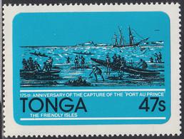 Tonga 1981 MH Sc #500 47s Capture Of The Port Au Prince Ship 175th Anniversary - Tonga (1970-...)