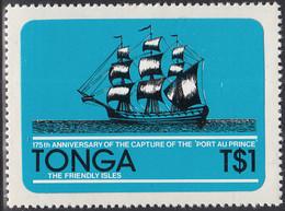 Tonga 1981 MH Sc #501 1pa Capture Of The Port Au Prince Ship 175th Anniversary - Tonga (1970-...)