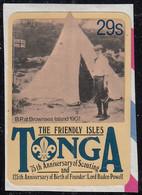 Tonga 1982 Used Sc #504 29s Baden-Powell At Brownsea Island 1907 Scouting Year - Tonga (1970-...)