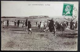 CPA 56 PLOEMEUR - LE FORT BLOQUE - La Plage - Animation - Laurent Nel 1356 - Réf X 04 - Ploemeur