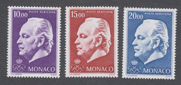 Monaco -Timbres Neufs** - Prince Rainier III - PA N° 97 à 99 Sans Charnières - Airmail