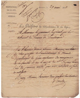 DEPARTEMENT CONQUIS DE LA LYS - Lettre De BRUGES. 1813 Pour Les Douanes De DUNKERQUE (NORD) - 1792-1815: Conquered Departments
