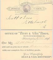 USA - STATIONERY POSTAL CARD 1c UNITED STATES OF AMERICA  PHILADELPHIA 3.5.1893 / 2 - Sin Clasificación