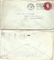 USA - STATIONERY COVER  2c US POSTAGE PHILADELPHIA 13.9.1917  / 2 - Sin Clasificación