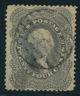 1857, 24 Cent Washington Grey Lilac Nicely Used - Gebraucht