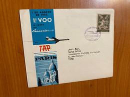 Lettre -1 Er Vol TAP - Lisbonne /Paris 1962 - Briefe U. Dokumente