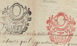 Departement Conquis De La Lys - Lettre De MENIN (Belgique). An IV De La Republique. PAS COURANT - 1792-1815: Conquered Departments