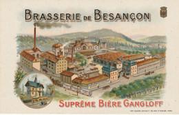 Brasserie De Besançon - Suprème Bière Gangloff. Etat SUP. Colorée; Avis De Passage. - Werbepostkarten