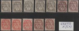 """Ex-colonie """"CRETE"""" Neuf */(*) Gomme D'Origine  Etat Bien - Unused Stamps"""