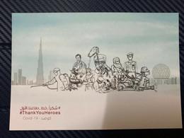 UAE 2020 Thank You Heroes COVID 19 Postcard- No Stamps - Emiratos Árabes Unidos