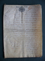 1683 Manuscrit à Déchiffrer GENERALITE ALENCON 16 Pages - Seals Of Generality