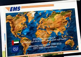 UAE 2019 United Arab Emirates EMS Postcard - Emiratos Árabes Unidos