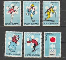 ROMANIA-Winter Olympic Games Sapporo 1972. - Winter 1972: Sapporo