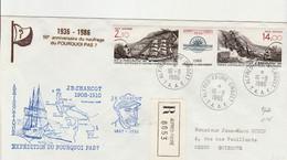 Taaf Terres Australes Antarctique Lettre (cover) 16/09/1986 PA N° 94A BATEAU A VOILE CHARCOT Recommandé - Briefe U. Dokumente