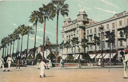 CPA Afrique > Egypte Alexandrie Alexandria Majestic Hotel Et French Garden Jardin Français - Alexandria