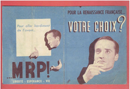 TRACT ELECTIONS 1946 M.R.P. MOUVEMENT REPUBLICAIN POPULAIRE COMMUNISTE SOCIALISTE P.R.L. RADICAUX DE GAUCHE - Organizations