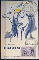 België 1957, Herdenkingskaart Ronde Van Frankrijk/Tour De France, Charleroi - Cartas Commemorativas
