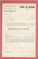 ORDRE DE MISSION BILINGUE FRANCAIS ALLEMAND 1940 WACHAUFTRAG POLICE GARDE DES COMMUNICATIONS VILLE DE DREUX EURE ET LOIR - 1939-45