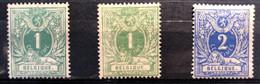 België, 1869-1883, Liggende Leeuw, 26/26a/27, Met Scharnier *, OBP 52€ - 1869-1888 Lying Lion