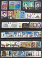 GRANDE BRETAGNE-33 SUPERBES TIMBRES NEUFS ** DONT 11 SERIES COMPLETES-4 BLOCS DE 2 ET 1 BLOC DE 5 TIMBRES -DEPUIS 1973 - Unused Stamps