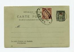 !!! ENTIER POSTAL 10C SAGE AVEC COMPLEMENT TIMBRE CHINOIS, CACHETS DE 1901 - Briefe U. Dokumente