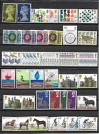 GRANDE BRETAGNE-33 TRES BEAUX TIMBRES NEUFS--AVEC N° 824 COTE 32€ -DONT 8 SERIES COMPLETES -1 BLOC DE 5 TIMBRES -DE 1977 - Unused Stamps